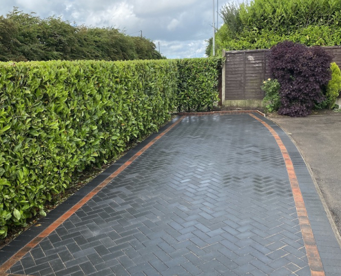 Block Paving completed in Audley